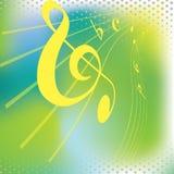 Righe musicali astratte Immagine Stock