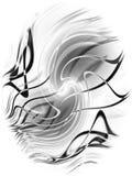 Righe nere astratte reticolo illustrazione vettoriale
