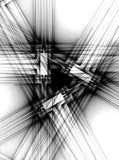 Linee nere che attraversano modello Immagine Stock Libera da Diritti