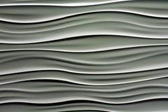 Righe ondulate in bianco ed in grigio Fotografia Stock Libera da Diritti