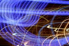Righe ondulate blu Fotografia Stock Libera da Diritti