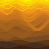 Righe ondulate curve in tonalità marroni e gialle. illustrazione vettoriale