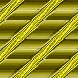 Righe ondulate reticolo senza giunte Immagini Stock Libere da Diritti