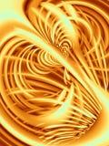 Righe ondulate struttura in oro Immagini Stock Libere da Diritti