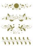 Righe ornamentali di regola Fotografia Stock