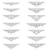 Righe ornamentali di regola Elementi decorativi di progettazione di vettore - vettore Confine e divisore royalty illustrazione gratis