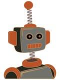 Righe robuste del retro del fumetto ritratto del robot Fotografie Stock Libere da Diritti