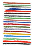 Righe sbavate di inchiostro colore con i pastelli pastelli Fotografia Stock