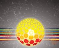 Righe variopinte astratte, sfera sulla priorità bassa del grunge illustrazione vettoriale