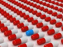 Righe variopinte delle pillole illustrazione vettoriale