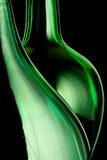 Righe verdi della bottiglia Immagine Stock
