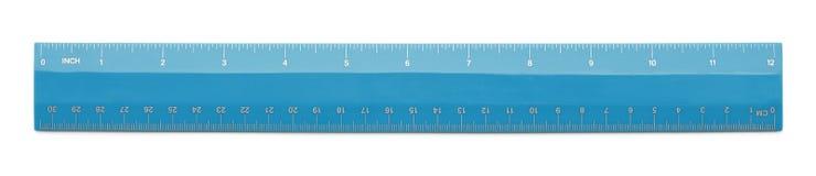 Righello blu Fotografia Stock Libera da Diritti