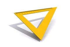 Righello del triangolo isolato su fondo bianco Fotografia Stock