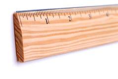 Righello di legno Fotografie Stock