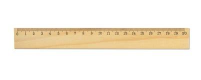 Righello di legno Fotografia Stock Libera da Diritti