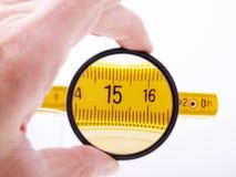 Righello di misurazione immagine stock