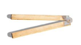 Righello di piegatura di legno Fotografia Stock Libera da Diritti