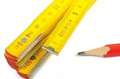 Righello e matita fotografia stock libera da diritti