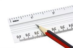 Righello e matita Immagine Stock