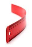Righello rosso flessibile immagini stock