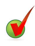 Right. Mark in green check box Royalty Free Stock Images