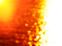 Right aligned glowing sun path ocean sunset with light leak back Stock Image