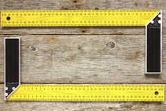 Right angle square tools Royalty Free Stock Images