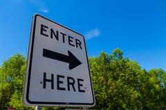 Right Arrow Enter Here Royalty Free Stock Photo