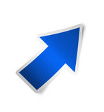 Right arrow icon blue, isolated Stock Photos