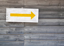 Right arrow sign Stock Photography