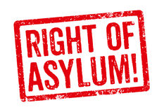 Right of Asylum. Red stamp - Right of Asylum royalty free illustration