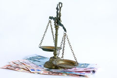 The right balance. Does the euro have the right balance Royalty Free Stock Images