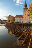 On the right bank of river Vltava Stock Photography