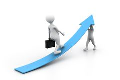 Right business growth solution. 3d illustration of Right business growth solution Stock Photos