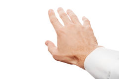 Right business man hand trying to grab something Stock Images