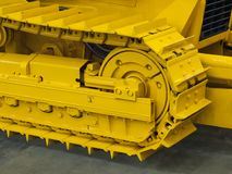 Right caterpillar of excavator. Right track of a heavy crawler excavator Stock Photo