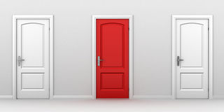Right choice red door concept Royalty Free Stock Image