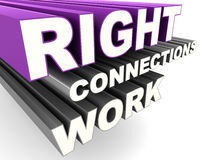 Right connections work. Concept of social contacts or business connections, right connections work Stock Photos