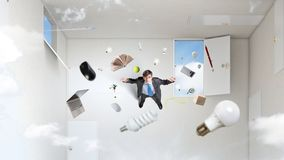 Right decision making concept. Mixed media royalty free stock images