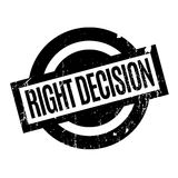 Right Decision rubber stamp Royalty Free Stock Image