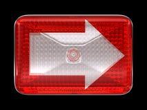 Right direcion arrow button or headlight Stock Images
