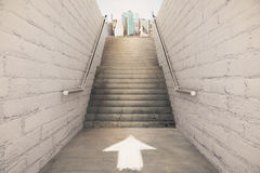 Right direction on staircase concept Royalty Free Stock Images