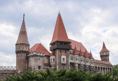 Right from a fairytale. Corvin Castle in Hunedoara (Romania Royalty Free Stock Images