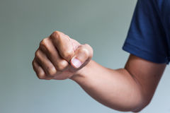 Right fist ready to fight Royalty Free Stock Photography