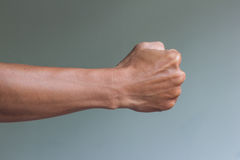 Right fist ready to fight Royalty Free Stock Images