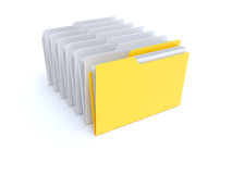 The right folder Royalty Free Stock Photo