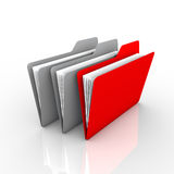 The right folder. Privileged folder with the specified color, especially red. The presentation and available on the internet Stock Images