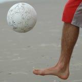 Right foot kick Royalty Free Stock Image
