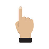 Right forefinger pointing to. Pointing hand finger. Vector illustration EPS10 Stock Photo
