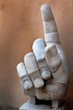Right hand of the Colossus of Constantine Royalty Free Stock Photos